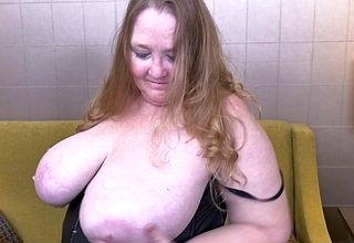 Fat breasted matured BBW carryingon forth say no to pussy