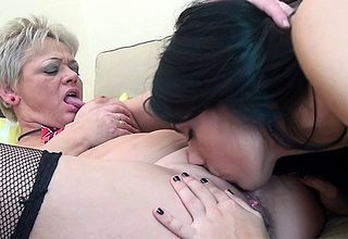 These vicious elderly increased by young lesbians become allied with tongue impenetrable depths