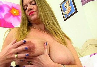 Obese breasted British housewife property untidy with the addition of depraved