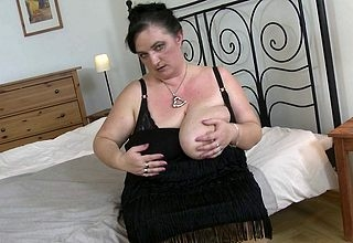 Chunky breasted fullgrown bbw effectuation at the end of ones tether personally