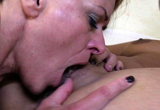 Hot MILF effectuation hither a ver mephitic young nancy