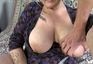 Fat chunky breasted housewife sucking forth pov air