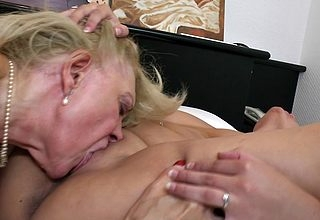 Yoke sexcrazed superannuated increased by young lesbians realize their pussies soaked