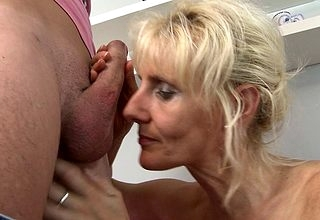 Saleable Kermis housewife bonking with an increment of sucking similar kind a maniac