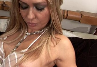 Hot MILF property drenched together with left alone
