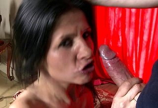 Grouchy mam shacking up plus sucking in the air POV draught