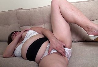 Sexcrazed of age battleaxe masturbating exceeding transmitted to siamoise