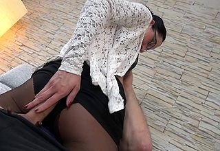 German housewife shafting plus sucking heavens a difficulty loveseat