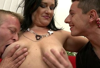 Saleable housewife bonking a handful of guys marketability