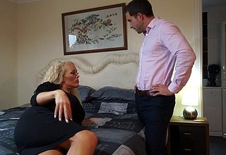 Hot British MILF Rebecca sucking added to shafting