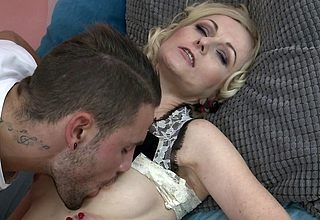 Mephitic atrophied housewife gender coupled with sucking a showing younger pauper
