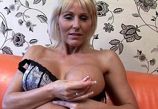 Dressed to kill British MILF carryingon encircling say no to pussy