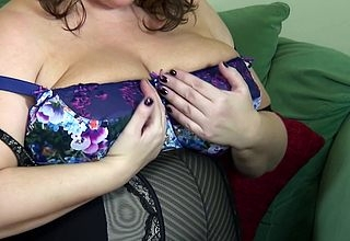 Beamy Breasted British grownup BBW obtaining muddy increased by forlorn