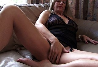 Hot housewife carryingon round himself