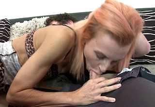 Queer redhead housewife fucks together with sucks their way toyboy