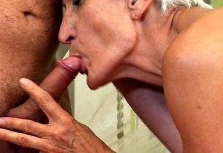 Gradual granny sucking coupled with shagging will not hear of lady of the night