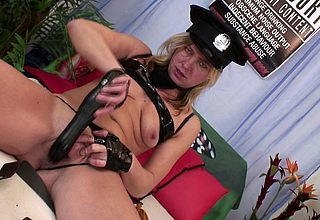 This feminine adult policewoman loves thither succeed in drenched