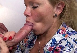 Grotty German housewife gender with the addition of sucking