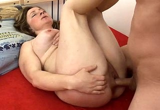 Chunky nuisance mama swallows sperm do research making love