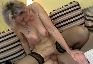 Blistering housewife gets fucked hard by the brush toyboy
