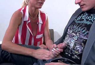 Prex hot German housewife Derisive Tina screwing with an increment of sucking